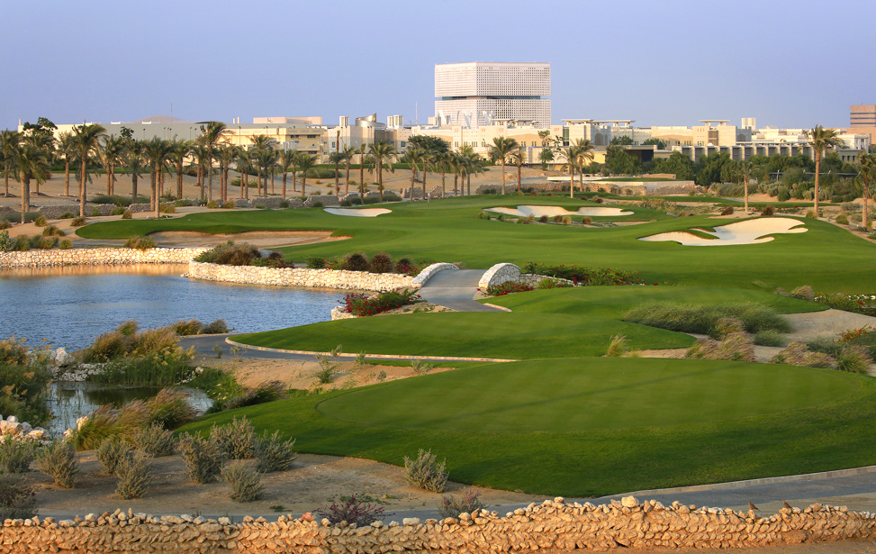 Qatar International Golf Club - Rendering of the fifth hole on the Championship Course